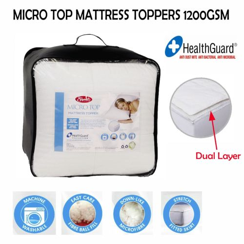 Micro Top Mattress Topper 1200GSM Single by Easyrest