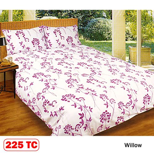 225 TC Willow Quilt Cover Set by Kingdom
