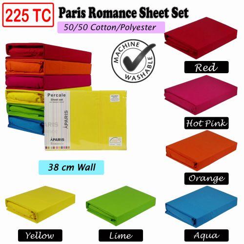 225TC Paris Romance Sheet Set