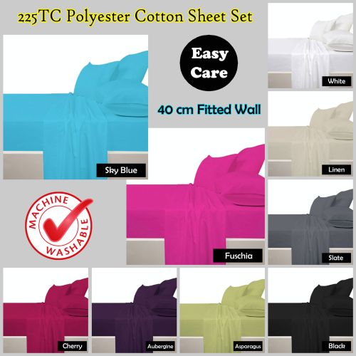 225 TC Polyester Cotton Sheet Set by Accessorize