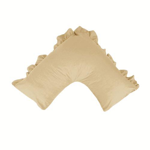 280TC Luxury Percale Ruffled V Pillowcase