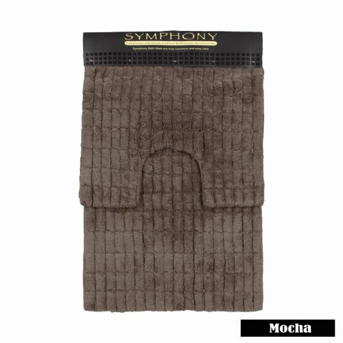 2 Piece Mosaic Bath Mat Set by Symphony