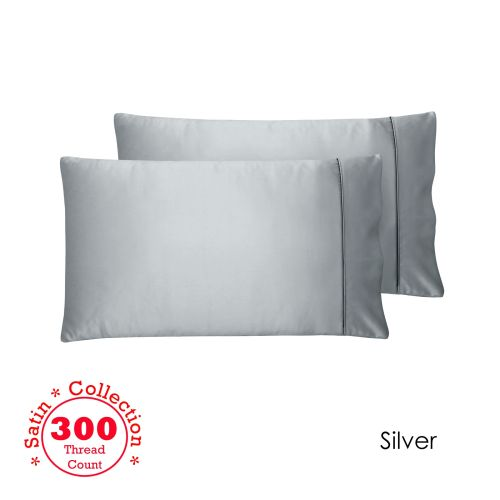 300TC Deluxe Essentials Satin Standard Pillowcases by Accessorize