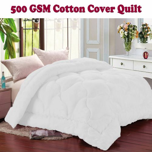 500gsm Cotton Cover Microfibre Quilt for Winter