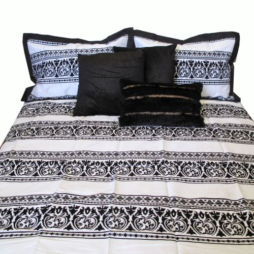 6 Pce Dahlia Quilt Cover Bed Pack Queen
