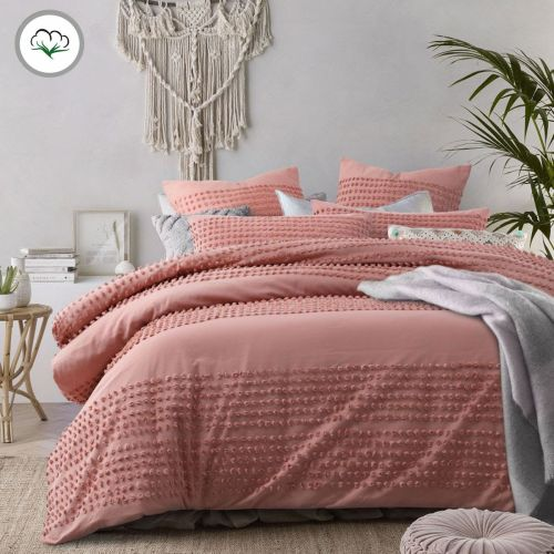 Betty Clay Cotton Quilt Cover Set by Accessorize