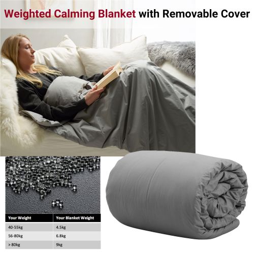 Weighted Calming Blanket with Removable Cover by Accessorize