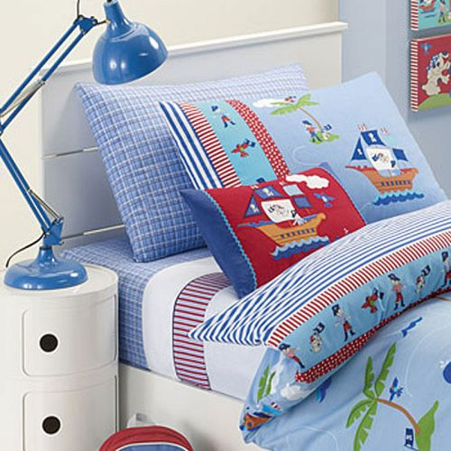 Ahoy There Blue Quilt Cover Set by Jiggle & Giggle