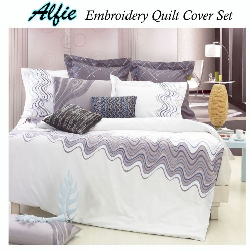 240TC Alfie Embroidery Quilt Cover Set by Grand Aterlier