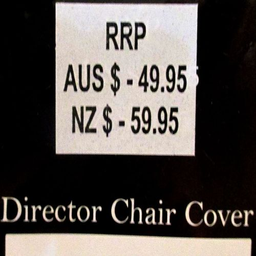 Alfresco 100% Cotton Director Chair Cover by Rans