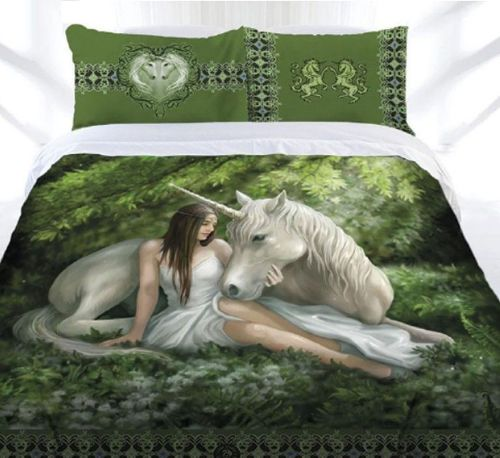 Pure Heart Quilt Cover Set by Anne Stokes