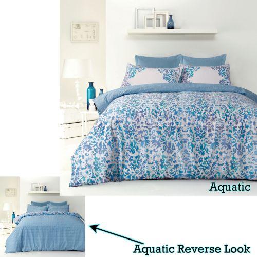 Reversible Quilt Cover Set Aquatic Aqua by Apartmento