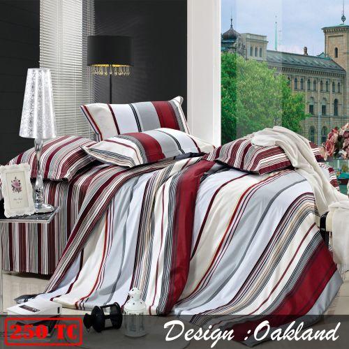 250TC Cotton Quilt Cover Set Oakland by Ardor