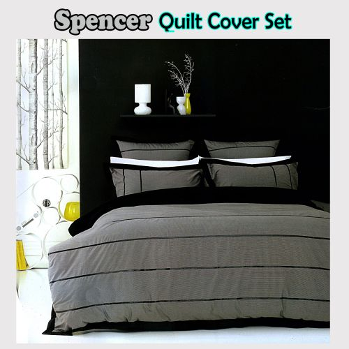 Spencer Quilt Cover Set by Ardor - Queen