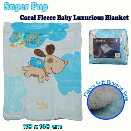 Baby Luxurious Coral Fleece Blanket Super Pup by Elements