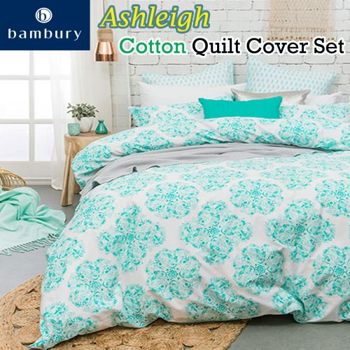 Ashleigh Cotton Quilt Cover Set by Bambury