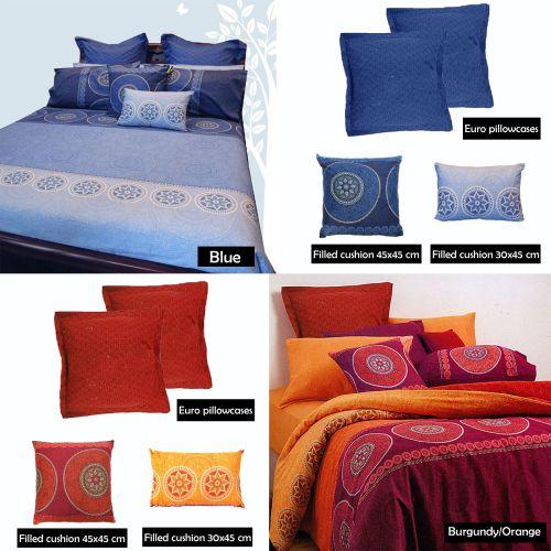 Bazaar Quilt Cover Set Eurocases Cushions