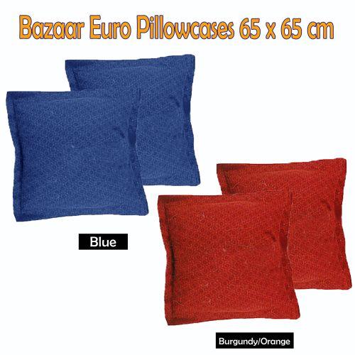 Pair of Bazaar European Pillowcases BLUE