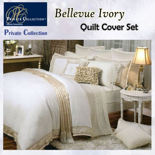 Bellevue Ivory Quilt Cover Set by Private Collection