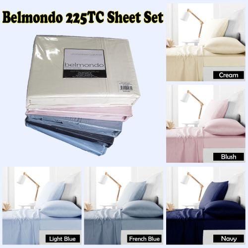 225 TC Polyester Cotton Sheet Set by Belmondo