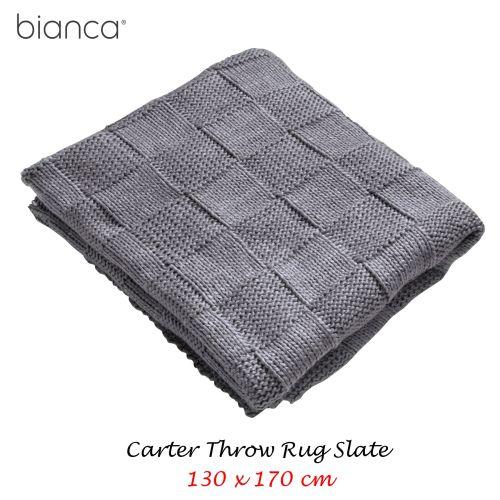 Carter Slate Throw Rug 130 x 170 cm by Bianca