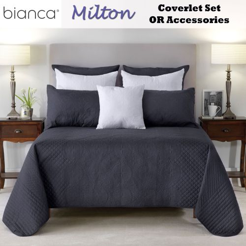 Milton Embroidered Coverlet Set by Bianca