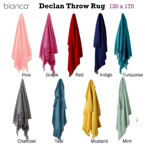 Declan Throw Rug 130 x 170 cm by Bianca