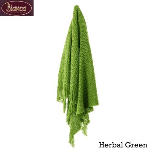 Declan Throw Rug 130 x 170 cm Herbal Green