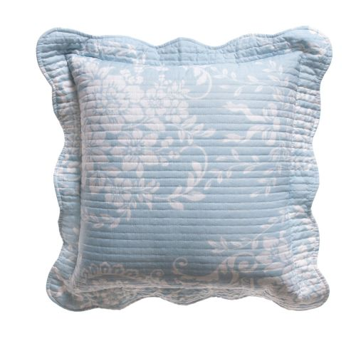 Florence Blue White Square Cushion by Bianca