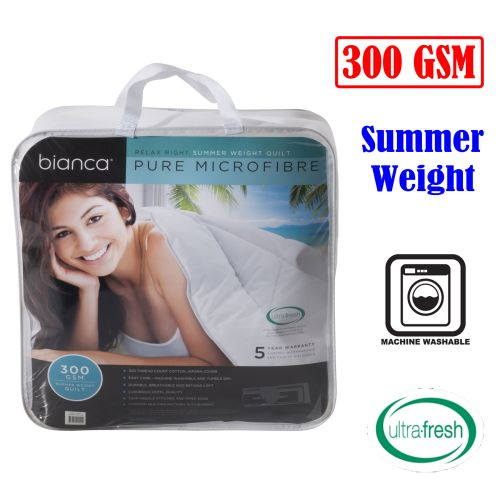 300GSM Relax Right Summer Microfibre Quilt by Bianca