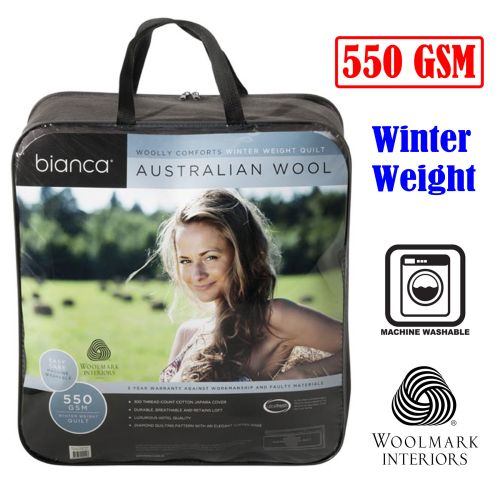 550GSM Woolly Comforts Winter Wool Quilt by Bianca