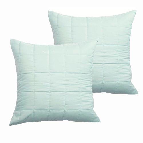 Laila Vivid Coordinates Bay Green Pair of Euro Pillowcases by Bianca
