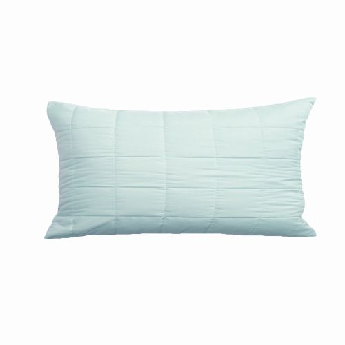 Laila  one Vivid Coordinates Bay Green Filled Oblong Cushion by Bianca