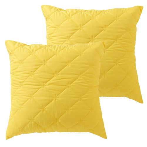 Pair of Vivid Coordinate Euro Pillowcases Chartreuse by Bianca