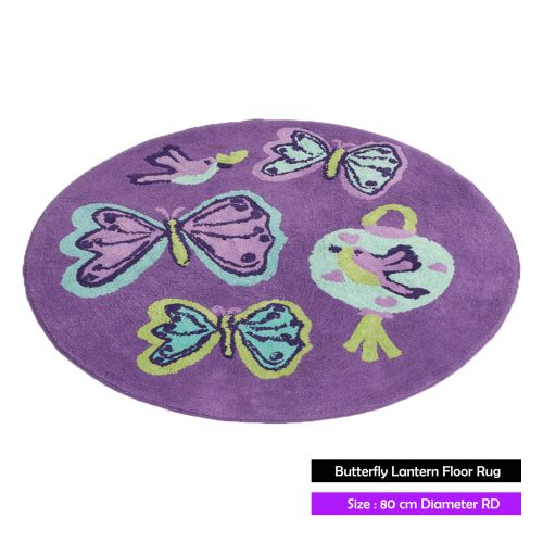 Butterfly Lantern Floor Rug by Jiggle & Giggle