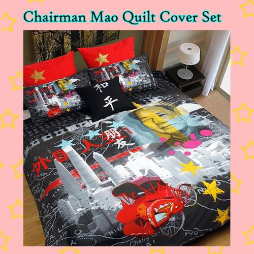 Chairman Mao Quilt Cover Set