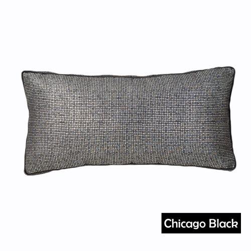 Logan & Mason Filled Cushion Chicago Black