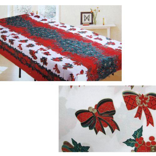 Christmas Bows Rectangular Table Cloth SD1506
