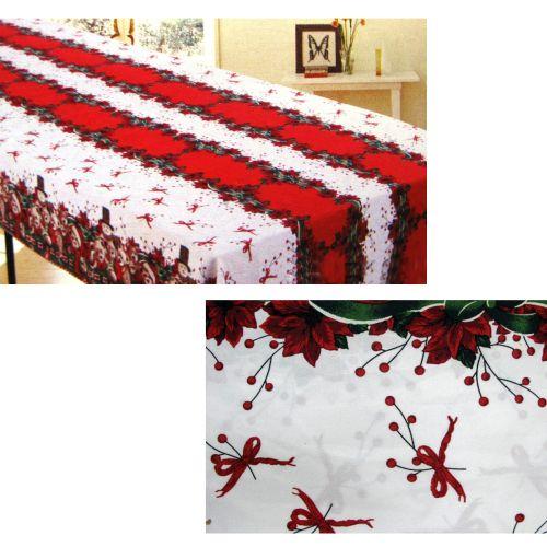 Christmas Bows Rectangular Table Cloth SD1640 150cm x 230cm