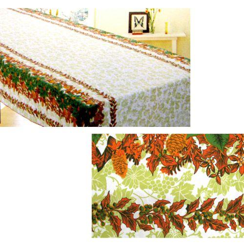 Christmas Leaves Rectangular Table Cloth SD1667