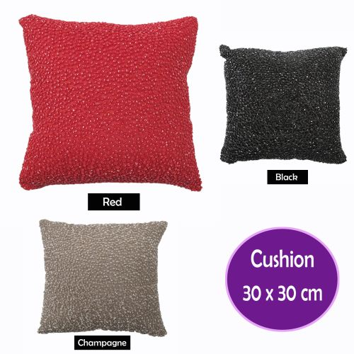 Corals Beaded Filled Cushion 30cm x 30cm