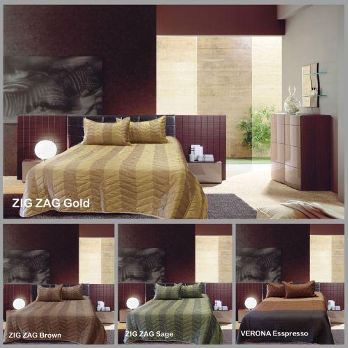 Faux Silk Coverlet Set