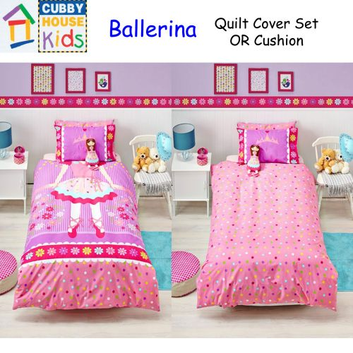 Ballerina Quilt Cover Set Cushion by Cubby House Kids