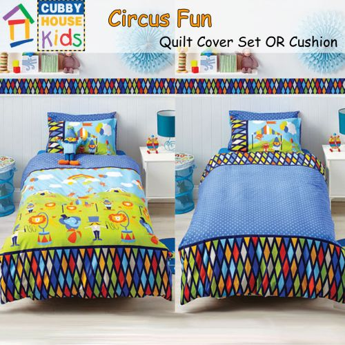Reversible Circus Fun Quilt Cover Set by Cubby House Kids