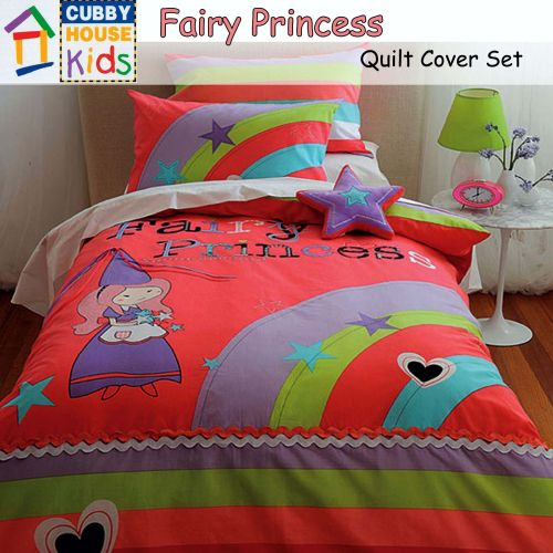Fairy Princess Quilt Cover Set by Cubby House Kids