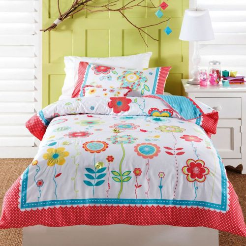 Floral Spot Quilt Cover Set by Cubby House Kids