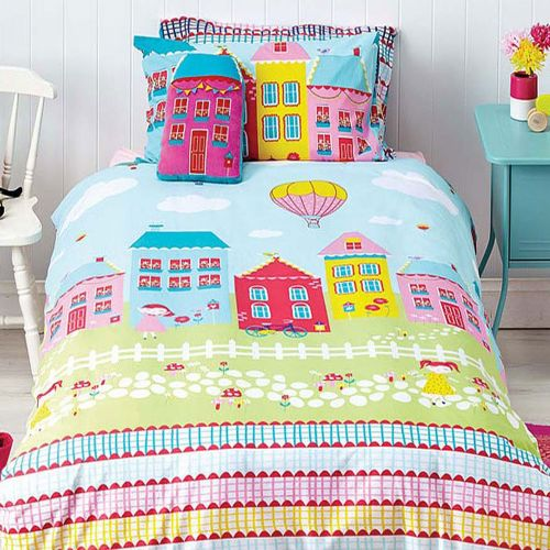 Reversible Lovely Lane Quilt Cover Set by Cubby House Kids