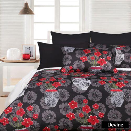 Devine Black Quilt Cover Set