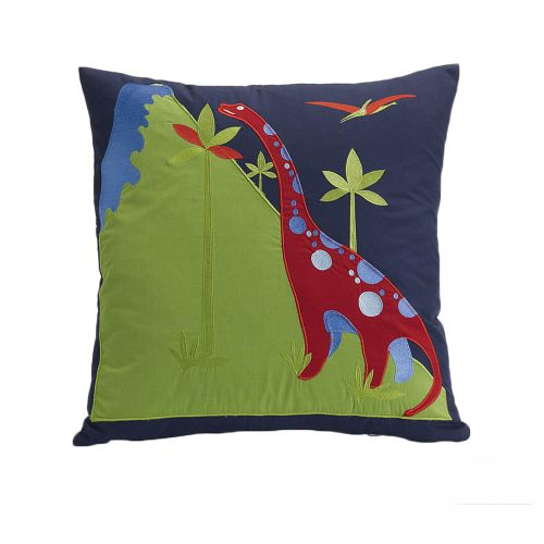Dinosaurs Dreams Filled Square Cushion by Jiggle & Giggle