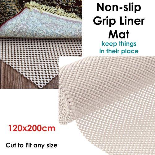 Non-slip Grip Liner Mat Cream 120x200 cm by Choice